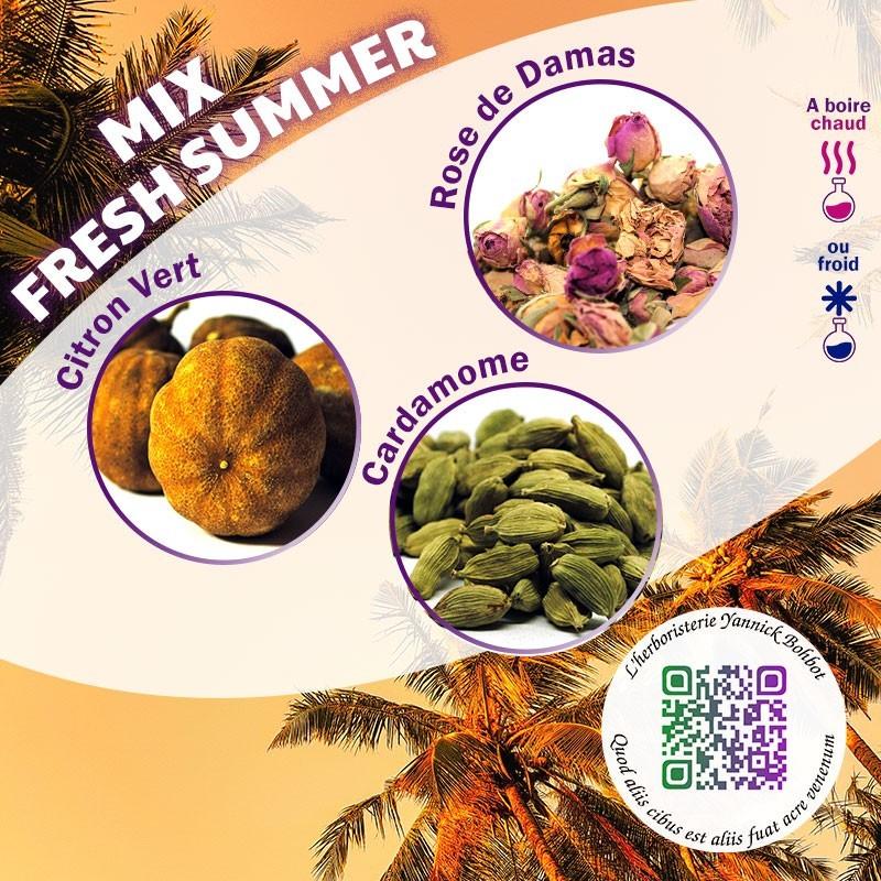 Mix Fresh Summer -  Les saveurs acidulées du citron vert, la fraicheur de la cardamome et la douceur de la rose de Damas.